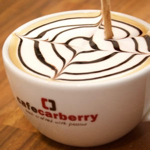 Cappuccino coffee at Cafe Carberry Catering Belfast.