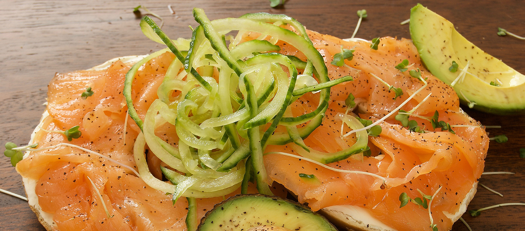 Carberry Catering Belfast salmon, cucumber and avocado dish - photo 1305.