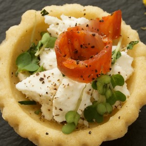 Catering Belfast savoury pastry photograph for Cafe Carberry Catering Belfast - tight crop.