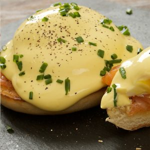 Eggs Benedict meal by Cafe Carberry Catering Belfast.